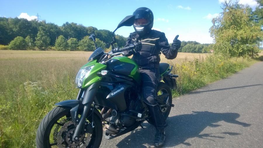 Motorrad fahren macht Spaß