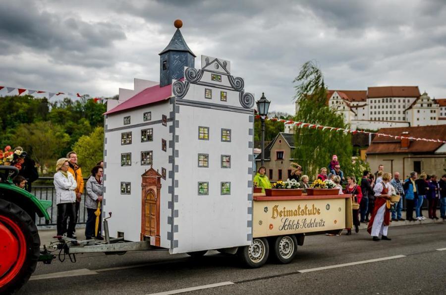 Festwagen zur 750 Jahrfeier in Colditz
