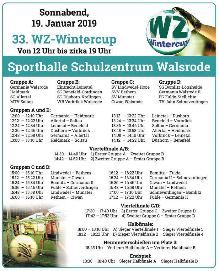WZ Winter-Cup 2019 - Spielplan