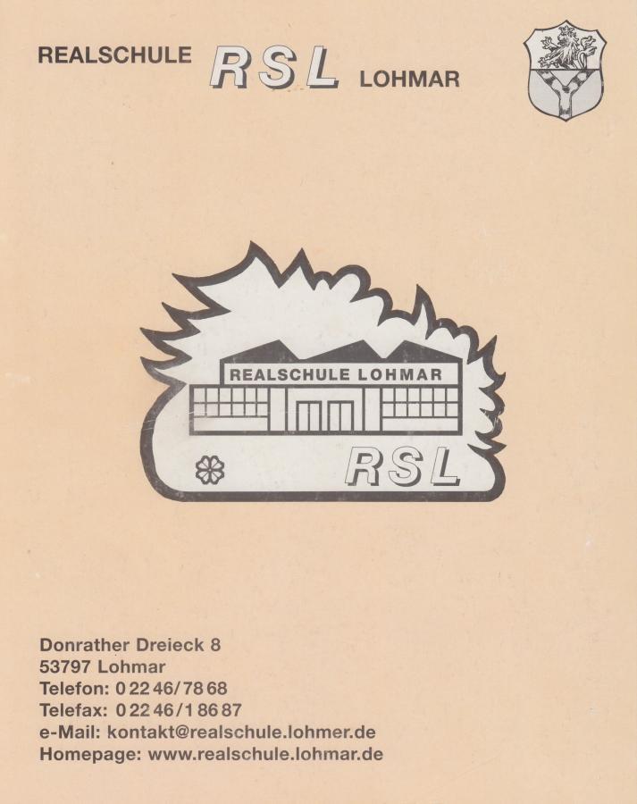 Festschrift 25 Jahre Realschule Lohmar