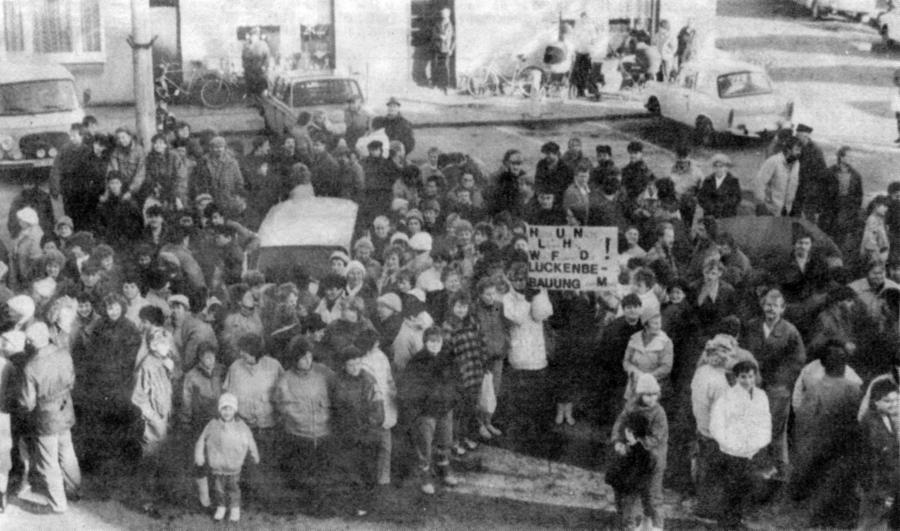Protestdemonstration am 24.1.1990