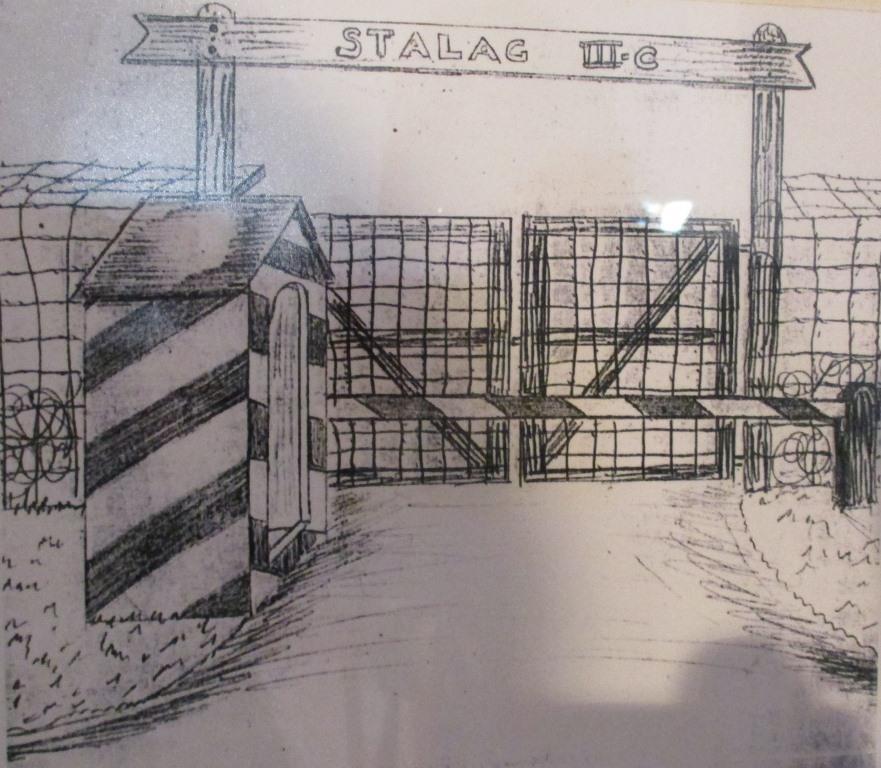 Eingang zum Stalag III C - Alt Drewitz bei Küstrin