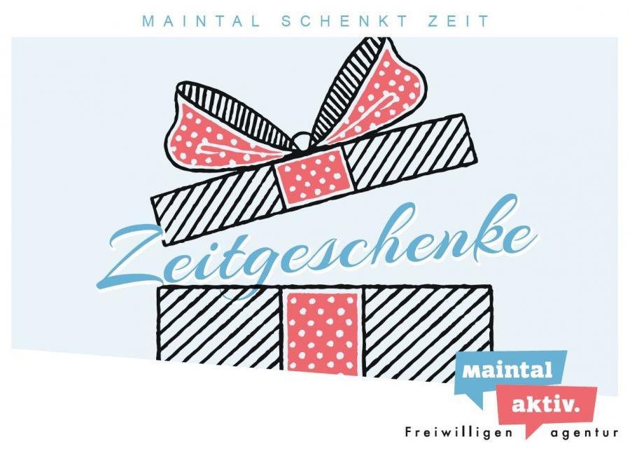 """Link führt zur PDF-Datei der Motiv-Postkarte """"Zeitgeschenke"""""""