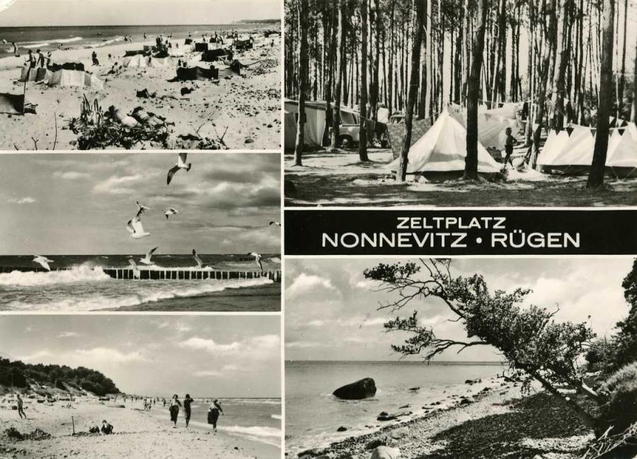 Zeltplatz Nonnewitz-Rügen 1972
