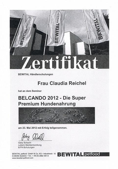 Zertifikat Bewital 23.05.2012