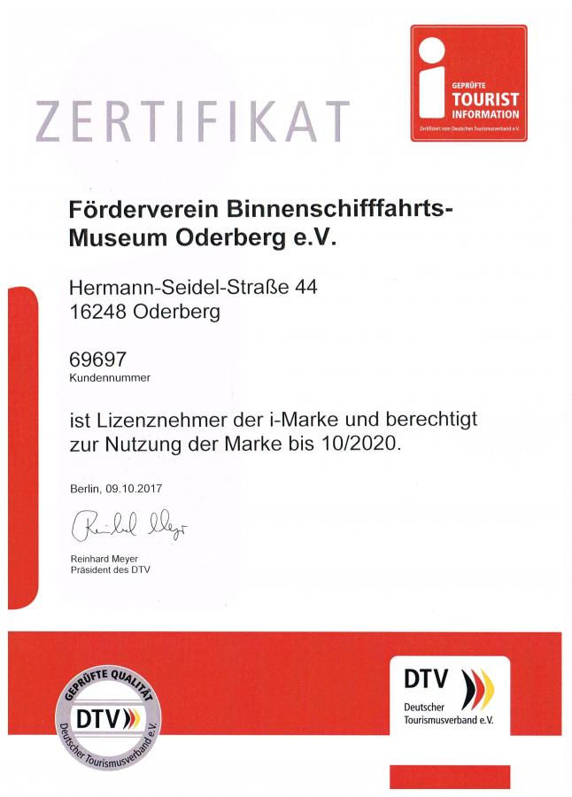Zertifikat i Marke
