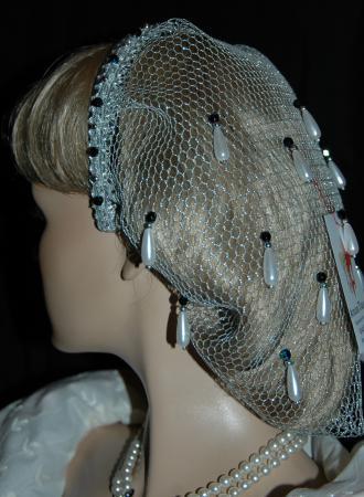Haarnetz silber