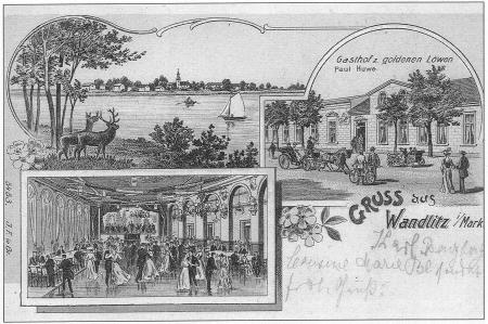 Goldener Löwe - historische Postkarte_Foto: Gemeinde Wandlitz