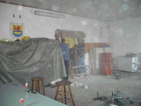 2011 Umbau Wache, Maurerarbeiten 9