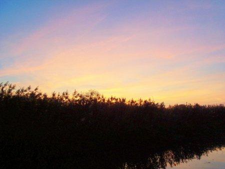Recknitz - Sonnenuntergang