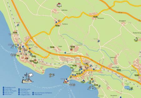 Karte Bodensee