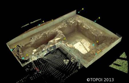 Laserscan eines unterirdischen Kellers