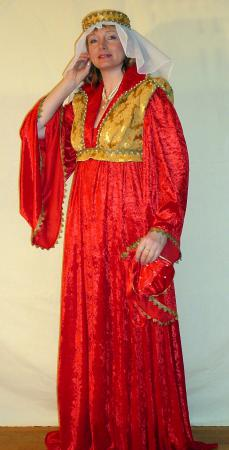 Mittelalterkleid rot-gold