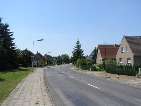 Ortsausgang in Richtung Parchim