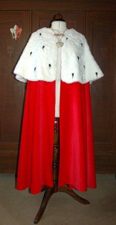 Königs Mantel Umhang Samt purpur