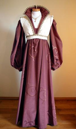 Mittelalterkleid braun