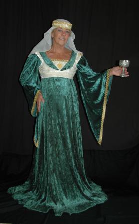Mittelalterkleid grün