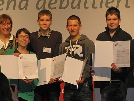 Nils Amboß wird Dritter beim Landesfinale von -Jugend debattiert-