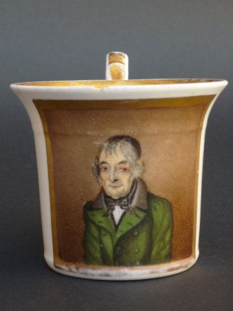 Ansichtentasse mit Gotthelf Greiner. Limbach um 1790