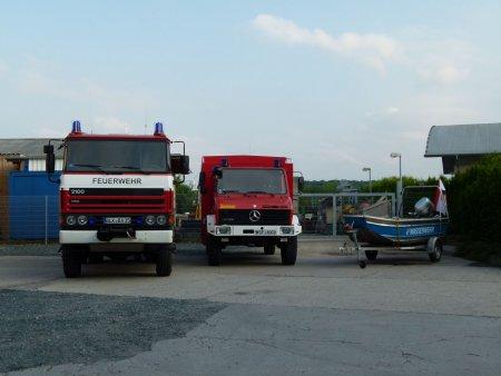 HLF 24/30 mit SW 2000 und Boot der Wasserwehr