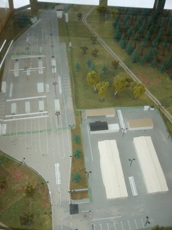 Modell der Grenzübergangstelle Eisfeld-Rottebach 1973-1989