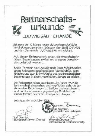Partnerschaftsurkunde Ludwigsau