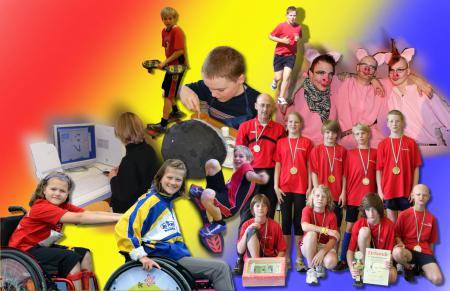 Foto-Collage der Schüler vom Pixelworkshop