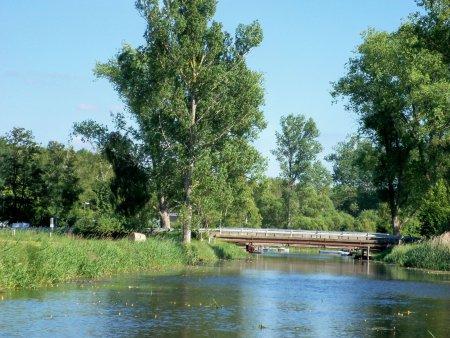 Recknitzbrücke Marlow aus Damgarten Kommend