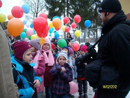 Luftballons vor dem Start