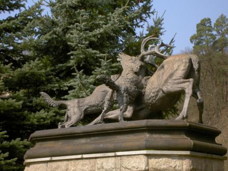 Der besiegte Hirsch