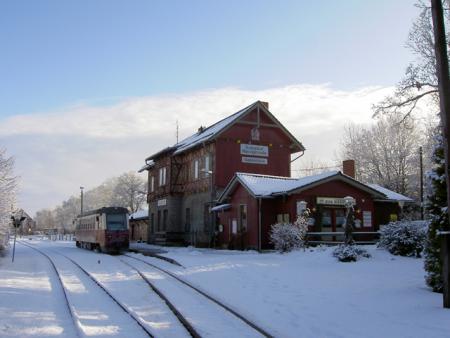 Bahnhof der Selketalbahn