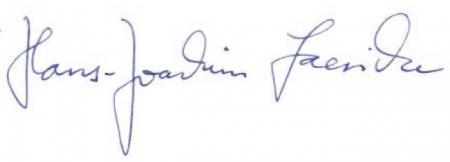 Ihr Hans-Joachim Laesicke