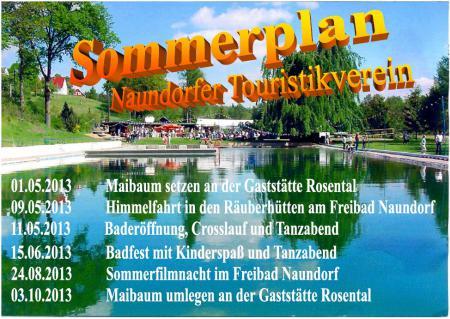 Sommerplan 2013