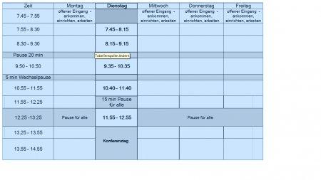 Stundenplan Profilklassen 9/10