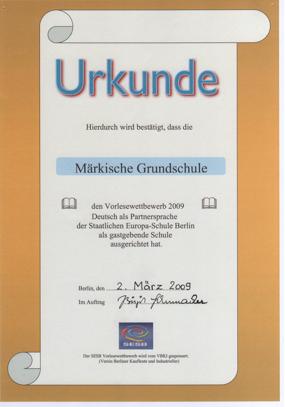 Urkunde DPS 2009