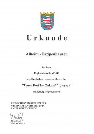 Urkunde Erdp 2011