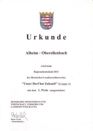 Urkunde Oe 2011