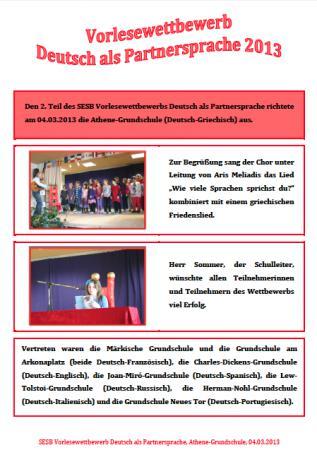 Vorlesewettbewerb2013 Bericht