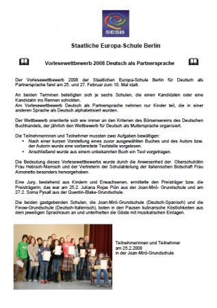 Vorlesewettbewerb DPS 2008