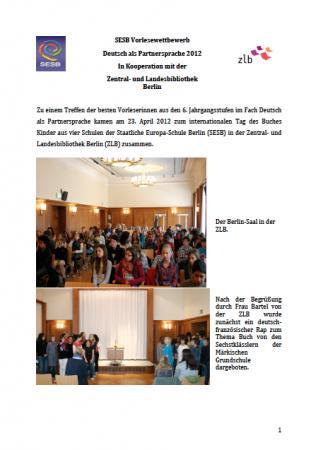 Vorlesewettbewerb DPS 2012 (Best of)