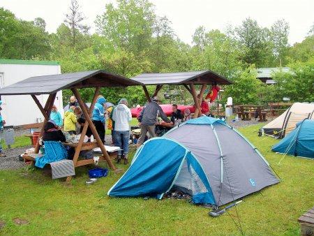 Wasserwanderrastplatz - Zelten im eigenen Zelt