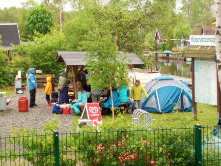 Wasserwanderrastplatz Marlow - Zelten im eigenen Zelt