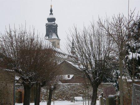 Winterliches Kloster