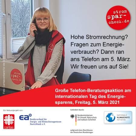 Plakatmotiv der Telefonberatungsaktion am 5.3.