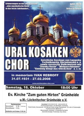Flyer Konzert Ural Kosaken Chor