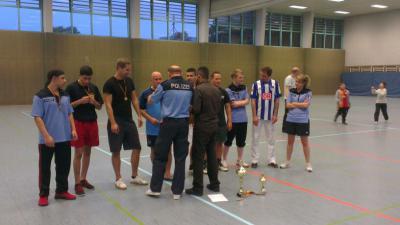 Fußball in der Polizeisporthalle