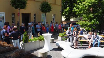 Vernissage Ausstellung Himmelland-Fontaneland, Foto: Susanne Weber, Mai 2019