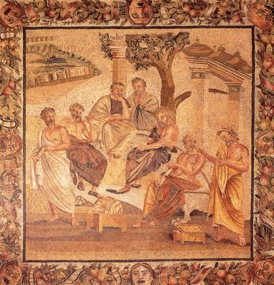 Römisches Mosaik - Platon