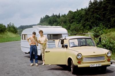 Urlaub in der DDR - Wohnwagen Foto: Privat