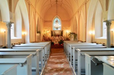 Erntefestdekoration in der Kirche 2019, Foto: Uwe Steckhan